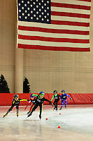 Kids compete in long track speedskating at Badger State Winter Games on Sunday at Pettit National Ice Center in Milwaukee