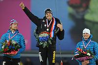 SCHAATSEN: GRONINGEN: Sportcentrum Kardinge, 18-01-2015, KPN NK Sprint, Michel Mulder, Hein Otterspeer, Pim Schipper, ©foto Martin de Jong