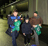 4th January 2014; Brian O'Driscoll, Leinster, arrives at the Sportsground ahead of the game. Rabodirect Pro12, Connacht v Leinster, Sportsground, Galway. Picture credit: Tommy Grealy/actionshots.ie.