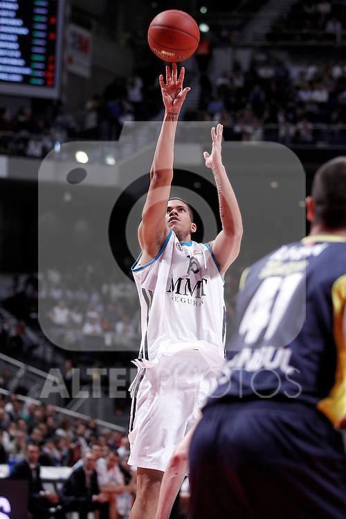 Real Madrid's Rafael Hettsheimeir during Euroleague 2012/2013 match.November 30,2012. (ALTERPHOTOS/Acero)