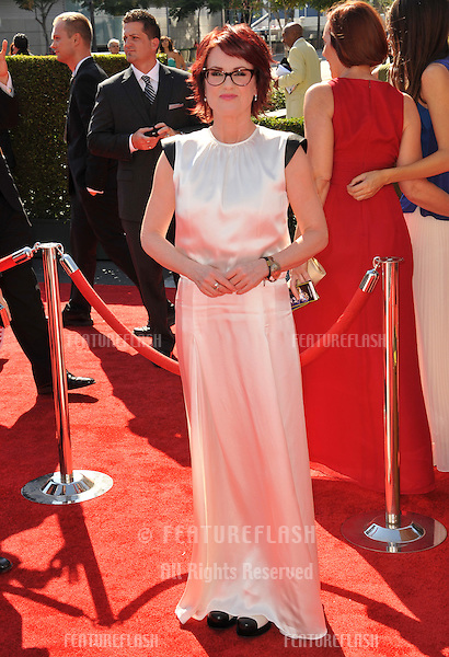 Megan Mullally at the 2012 Primetime Creative Emmy Awards at the Nokia Theatre, LA Live..September 15, 2012  Los Angeles, CA.Picture: Paul Smith / Featureflash