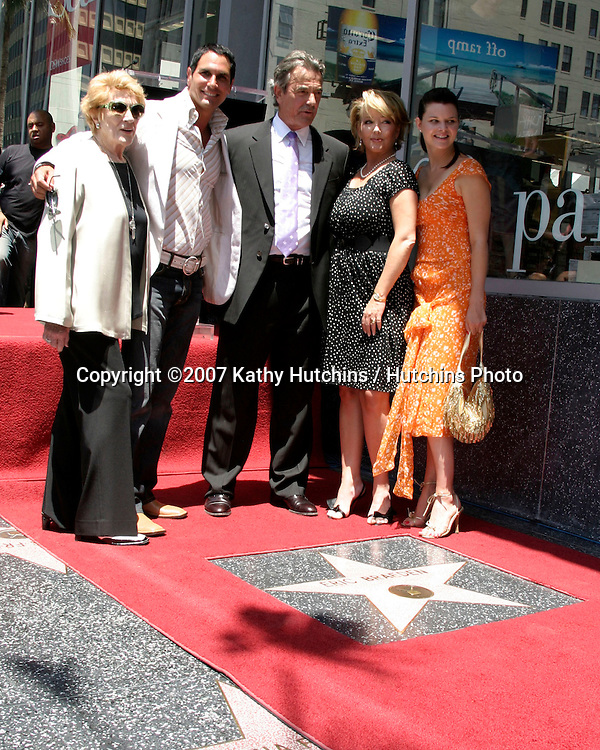 Jeanne Cooper, Don Diamonte,  Eric Braeden, Melody Thomas Scott, and Heather Tom.Eric Braeden receives a star on the .Hollywood Walk of Fame.Los Angeles, CA.July 20, 2007.©2007 Kathy Hutchins / Hutchins Photo....