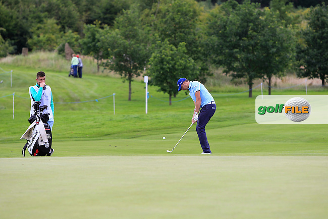 Simon Thornton (IRL) on the 3rd green during Round 2 of the Northern Ireland Open in Association with Sphere Global &amp; Ulster Bank at Galgorm Castle Golf Club on Friday 7th August 2015.<br /> Picture:  Thos Caffrey / www.golffile.ie