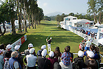 Jens Fahrbring of Sweden tees off the first hole while the crowd of spectator watches during the 58th UBS Hong Kong Golf Open as part of the European Tour on 11 December 2016, at the Hong Kong Golf Club, Fanling, Hong Kong, China. Photo by Marcio Rodrigo Machado / Power Sport Images