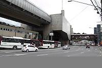 SAO PAULO, SP - 05.11.2014 - PARALISAÇÃO DE ONIBUS - O Terminal João Dias, na Zona Sul de São Paulo teve seus acessos bloqueados nesta quarta-feira (5). O sindicato das empresas de ônibus, SPUrbanuss organizam uma paralisação das linhas da capital paulista em reinvidicação da falta de segurança dos seus profissionais.<br /> <br /> <br /> (Foto: Fabricio Bomjardim / Brazil Photo Press)