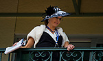 HALLANDALE BEACH, FL - JANUARY 27: A woman looks over the balcony at the paddock on Pegasus World Cup Invitational Day at Gulfstream Park Race Track on January 27, 2018 in Hallandale Beach, Florida. (Photo by Scott Serio/Eclipse Sportswire/Getty Images)