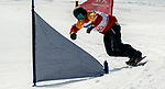 PyeongChang 12/3/2018 - John Leslie during the snowboard cross competition at the Jeongseon Alpine Centre during the 2018 Winter Paralympic Games in Pyeongchang, Korea. Photo: Dave Holland/Canadian Paralympic Committee
