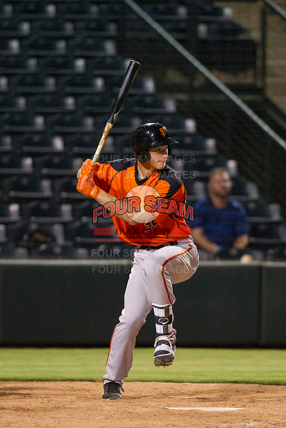 AZL Giants third baseman Jacob Gonzalez (52) bats during a game against the AZL Angels on July 9, 2017 at Diablo Stadium in Tempe, Arizona. AZL Giants defeated the AZL Angels 8-4. (Zachary Lucy/Four Seam Images)