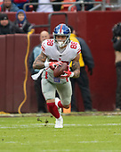 New York Giants tight end Evan Engram (88) carries the ball after making a reception in the first quarter of the game against the Washington Redskins at FedEx Field in Landover, Maryland on Sunday, December 9, 2018.<br /> Credit: Ron Sachs / CNP<br /> (RESTRICTION: NO New York or New Jersey Newspapers or newspapers within a 75 mile radius of New York City)
