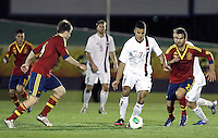 Spain's Illarramendi (l), Montoya and Norway's Singh during an International sub21 match. March 21, 2013.(ALTERPHOTOS/Alconada) /NortePhoto