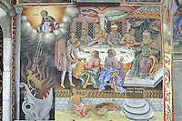 BG41194.JPG BULGARIA, RILA MONASTERY, CHURCH OF NATIVITY, frescoes