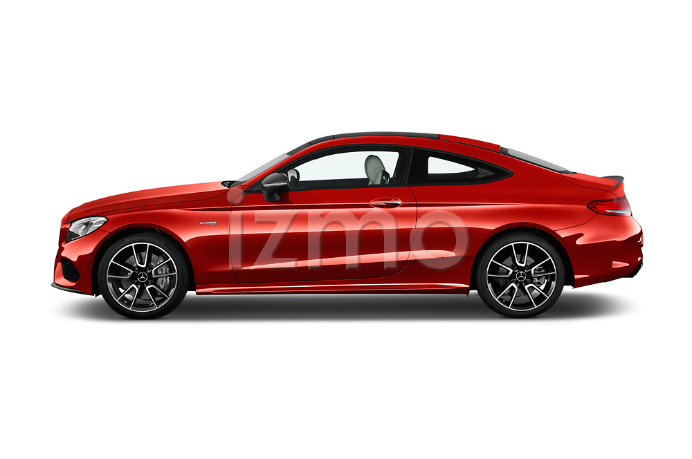Car Driver side profile view of a 2017 Mercedes Benz C-Class AMG-C43 2 Door Coupe Side View