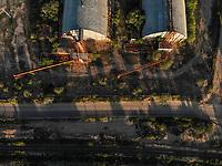 Aerial view of wineries and mills in the ejido La Victoria. train tracks, railroad.<br /> &nbsp; (Photo: Luis Gutierrez / NortePhoto.com)<br /> <br /> Vista a&eacute;rea de bodegas y molinos en el ejido la Victoria. vias de tren, ferrocarril. <br />  (Foto: Luis Gutierrez / NortePhoto.com)
