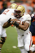 Boston College Eagles running back Andre Williams (44) runs up field during a game against the Syracuse Orange at the Carrier Dome on November 30, 2013 in Syracuse, New York.  Syracuse defeated Boston College 34-31.  (Copyright Mike Janes Photography)