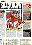 Sundy Mirror - Sport.Huddersfield Town v Leyton Orient.Page 16 Football supplement.25th September 2011