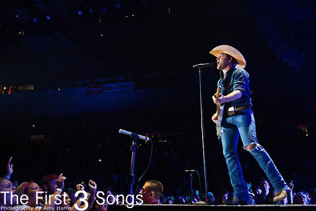 Justin Moore performs at US Bank Arena in Cincinnati, Ohio.