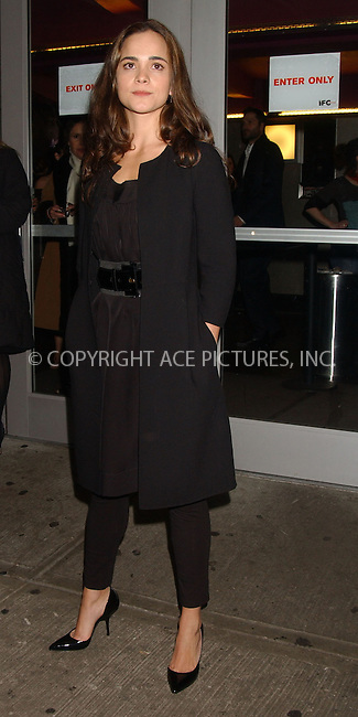 WWW.ACEPIXS.COM . . . . . ....February 1, 2007, New York City.....Alice Braga attends the 'East of Havana' New York City Premiere at the IFC Center.....Please byline: KRISTIN CALLAHAN - ACEPIXS.COM.. . . . . . ..Ace Pictures, Inc:  ..(212) 243-8787 or (646) 679 0430..e-mail: picturedesk@acepixs.com..web: http://www.acepixs.com