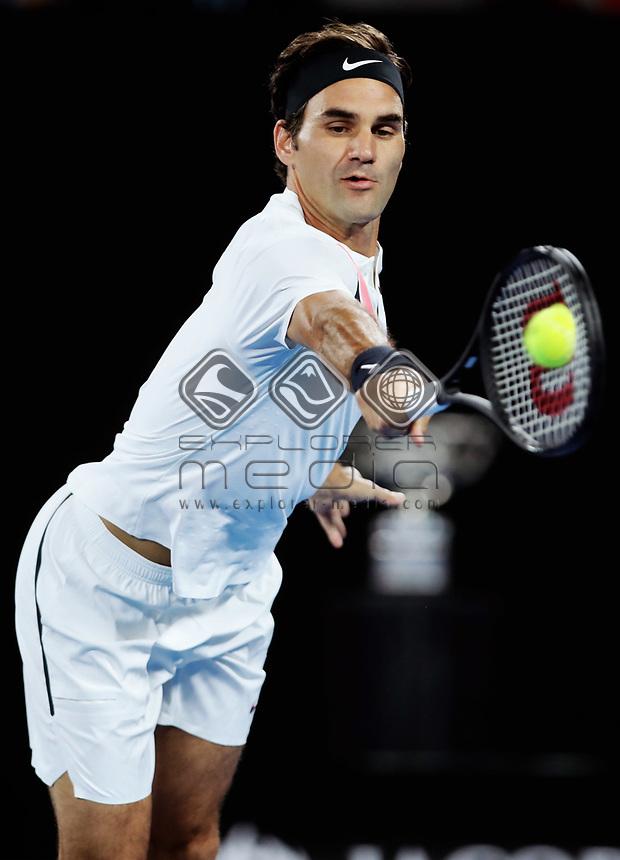 MELBOURNE,AUSTRALIA,28.JAN.18 - TENNIS - ATP World Tour, Grand Slam, Australian Open. Image shows Roger Federer (SUI). Photo: GEPA pictures/ Matthias Hauer / Copyright : explorer-media