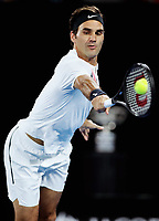 MELBOURNE,AUSTRALIA,28.JAN.18 - TENNIS - ATP World Tour, Grand Slam, Australian Open. Image shows Roger Federer (SUI). Photo: GEPA pictures/ Matthias Hauer / Copyright : explorer-media