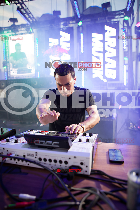 AraabMUZIK performing at the Movement Electronic Music Festival in Detroit, Michigan on May 28, 2012. © Joe Gall / MediaPunch Inc.