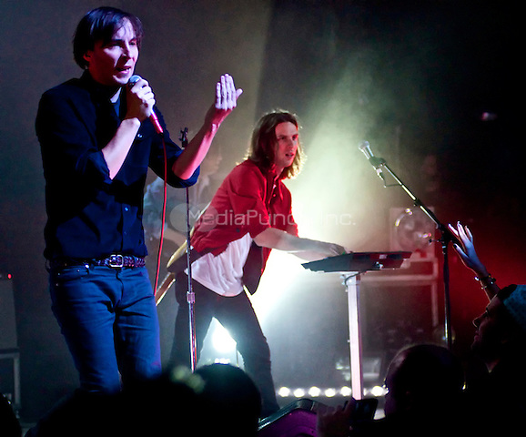 NEW YORK, NY - MAY 13: Phoenix in concert at The Apollo Theater in New York City. May 13, 2013. Credit:  Robert Altman/MediaPunch Inc.