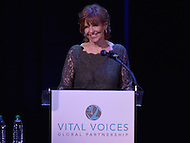 Washington, DC - June 17, 2014: Susan Ann Davis, Chair of the Vital Voices Board of Directors, speaks at the Vital Voices Global Leadership Awards at the John F. Kennedy Center in the District of Columbia, June 17, 2014.  (Photo by Don Baxter/Media Images International)