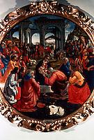Renaissance Art:  Domenico Ghirlandaio--Magi's Adoration.  Galleria Uffizi.