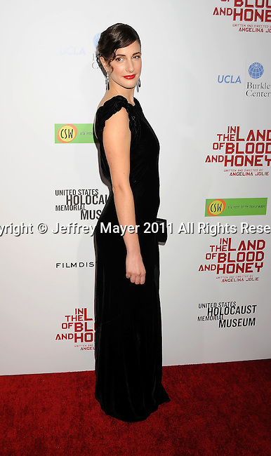 HOLLYWOOD, CA - DECEMBER 08: Zana Marjanovic attends 'In The Land Of Blood And Honey' Los Angeles Premiere at ArcLight Cinemas Hollywood on December 8, 2011 in Hollywood, California.