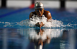 GUADALAJARA, MEXICO - OCTOBER 16:  Ezequiel Trujillo of Mexico competes in the Men's 100M Breaststroke Final during Day Two of the XVI Pan American Games at Scotiabank Aquatics Center on October 16, 2011 in Guadalajara, Mexico.  (Photo by Donald Miralle for Mexsport) *** Local Caption ***