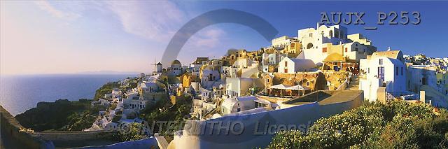 Dr. Xiong, LANDSCAPES, panoramic, photos, Sunset Point, Santorini, Greece(AUJXP253,#L#)
