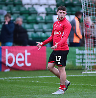 Lincoln City's Shay McCartan during the pre-match warm-up<br /> <br /> Photographer Andrew Vaughan/CameraSport<br /> <br /> The Emirates FA Cup Second Round - Lincoln City v Carlisle United - Saturday 1st December 2018 - Sincil Bank - Lincoln<br />  <br /> World Copyright © 2018 CameraSport. All rights reserved. 43 Linden Ave. Countesthorpe. Leicester. England. LE8 5PG - Tel: +44 (0) 116 277 4147 - admin@camerasport.com - www.camerasport.com