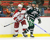 Danny Biega (Harvard - 9), Scott Fleming (Dartmouth - 17) - The Harvard University Crimson defeated the Dartmouth College Big Green 4-1 (EN) on Monday, January 18, 2010, at Bright Hockey Center in Cambridge, Massachusetts.