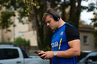 Tom Ellis of Bath Rugby looks on prior to the match. Gallagher Premiership match, between Bath Rugby and Exeter Chiefs on October 5, 2018 at the Recreation Ground in Bath, England. Photo by: Patrick Khachfe / Onside Images