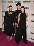 WEST HOLLYWOOD, CA - OCTOBER 12: (L-R) TV personalities Kim Kardashian, Kris Jenner and Kourtney Kardashian arrive at Cosmopolitan Magazine's 50th Birthday Celebration at Ysabel on October 12, 2015 in West Hollywood, California.