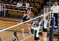 Florida International University women's volleyball player Jovana Bjelica (16) plays against Tulane University.  FIU won the match 3-2 on September 9, 2011 at Miami, Florida. .