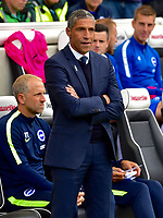 Brighton &amp; Hove Albion manager Chris Hughton <br /> <br /> Photographer David Horton/CameraSport<br /> <br /> The Premier League - Brighton and Hove Albion v West Bromwich Albion - Saturday 9th September 2017 - The Amex Stadium - Brighton<br /> <br /> World Copyright &copy; 2017 CameraSport. All rights reserved. 43 Linden Ave. Countesthorpe. Leicester. England. LE8 5PG - Tel: +44 (0) 116 277 4147 - admin@camerasport.com - www.camerasport.com