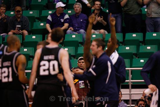 Trent Nelson  |  The Salt Lake Tribune.Salt Lake City - Butler vs. Syracuse, NCAA West Regional college basketball practice Thursday, March 25, 2010. eli lucero