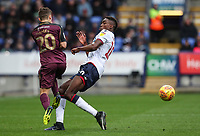 Bolton Wanderers' Sammy Ameobi competing with Swansea City's Daniel James<br /> <br /> Photographer Andrew Kearns/CameraSport<br /> <br /> The EFL Sky Bet Championship - Bolton Wanderers v Swansea City - Saturday 10th November 2018 - University of Bolton Stadium - Bolton<br /> <br /> World Copyright © 2018 CameraSport. All rights reserved. 43 Linden Ave. Countesthorpe. Leicester. England. LE8 5PG - Tel: +44 (0) 116 277 4147 - admin@camerasport.com - www.camerasport.com