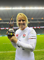 Rugby Union. Twickenham, England. England's Michaela Staniford has today been named IRB Women's Player of the Year during the international match between England and New Zealand Black Ferns at Twickenham Stadium on December 01, 2012 in Twickenham, England.