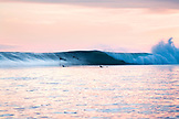 INDONESIA, Mentawai Islands, Kandui Resort, surfing Bankvaults at dusk, Indian Ocean