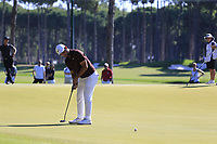 Alexander Levy (FRA) putts on the 3rd green during Saturday's Round 3 of the 2018 Turkish Airlines Open hosted by Regnum Carya Golf &amp; Spa Resort, Antalya, Turkey. 3rd November 2018.<br /> Picture: Eoin Clarke | Golffile<br /> <br /> <br /> All photos usage must carry mandatory copyright credit (&copy; Golffile | Eoin Clarke)