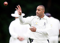 A Sardar prepares to bowl for Harrow during the Middlesex County League Division two game between Highgate and Harrow at Park Road, Crouch End on Sat Jun 25, 2011