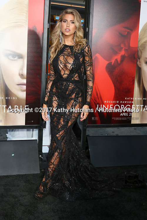 """LOS ANGELES - APR 18:  Kara Del Toro at the """"Unforgettable"""" Premiere at TCL Chinese Theater IMAX on April 18, 2017 in Los Angeles, CA"""