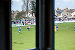 Lowestoft Town 2 Barrow 3, 25/04/2015. Crown Meadow, Conference North. Barrow make the six-hour trip to Suffolk needing a win to secure the title. Goalkeeper Ashlee Jones with a clearance. Photo by Simon Gill.