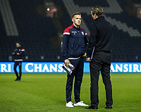 Bolton Wanderers' Craig Noone chats with manager Phil Parkinson before the match <br /> <br /> Photographer Andrew Kearns/CameraSport<br /> <br /> The EFL Sky Bet Championship - Sheffield Wednesday v Bolton Wanderers - Tuesday 27th November 2018 - Hillsborough - Sheffield<br /> <br /> World Copyright &copy; 2018 CameraSport. All rights reserved. 43 Linden Ave. Countesthorpe. Leicester. England. LE8 5PG - Tel: +44 (0) 116 277 4147 - admin@camerasport.com - www.camerasport.com