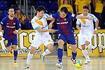 League LNFS 2017/2018 - Game 18.<br /> FC Barcelona Lassa vs Catgas Energia: 2-2.<br /> Pablo del Moral vs Sergio Lozano.
