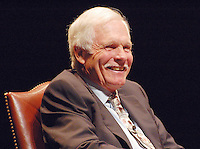 TED TURNER AT UNC CHAPEL HILL, CELEBRATED HIS 69th BIRTHDAY AT THE UNIVERSITY OF NORTH CAROLINA  11-19-2007.PHOTO BY JONATHAN GREEN