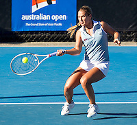 DOMINIKA CIBULKOVA (SVK) against GRETA AM (HUN) in the second round of the Women's Singles. Greta Am  beat Dominika Cibulkova 6-2 3-6 10-8..19/01/2012, 19th January 2012, 19.01.2012..The Australian Open, Melbourne Park, Melbourne,Victoria, Australia.@AMN IMAGES, Frey, Advantage Media Network, 30, Cleveland Street, London, W1T 4JD .Tel - +44 208 947 0100..email - mfrey@advantagemedianet.com..www.amnimages.photoshelter.com.