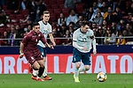 Argentina's Leo Messi and Venezuela's Moreno during International Adidas Cup match between Argentina and Venezuela at Wanda Metropolitano Stadium in Madrid, Spain. March 22, 2019. (ALTERPHOTOS/A. Perez Meca)