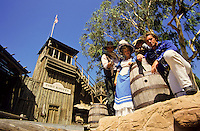 Wild west at the Knotts Berryfarm in Los Angeles, California, USA
